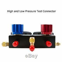 Elitech DMG-3B AC Manifold Gauge Set 2 Way Fits R134A R410A and R22 Refrigerants