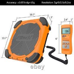 Elitech LMC-200 Refrigerant Charging Scale HVAC AC+DMG-3B AC Manifold Gauge Set