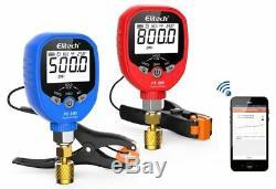 Elitech PT-500&PT-800 Wireless Refrigeration Digital Manifold Gauge Set HVAC A/C