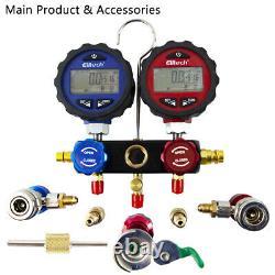 Elitech SVP-7 Vacuum Pump 7 CFM 2 Stage+DMG-3 AC Manifold Gauge Set HAVE Tools