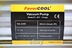FAVORCOOL 3.0CFM 1/4HP Air Vacuum Pump with Manifold Gauge Set for Freon R410A