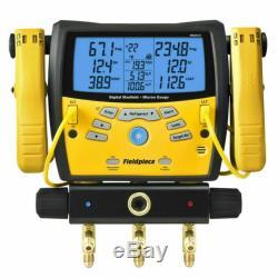 Fieldpiece SMAN360 3-Port Digital Manifold & Micron Gauge COMPLETE SET PERFECT