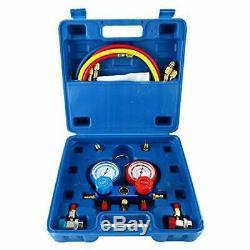 HVAC A/C Air Refrigeration Kit AC Manifold Gauge Set R134A R12 R22 R404A R410A