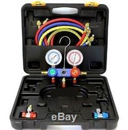 HVAC Air Conditioning Manifold Gauge Tool Set Condition AC Charging Gage Kit