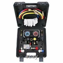 HVAC R410A Manifold Gauge Set AC R134A, Freon R22 R32 410A 134A Diagnostic
