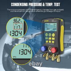 HVAC Refrigerantion Digital Manifold Gauge Vacuum Meter Pressure Temperature Set