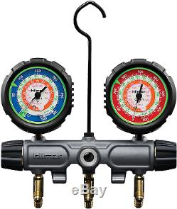 Hilmor 1839134 R22-404A-410A 2-Valve Aluminum Manifold HVAC Gauge Set