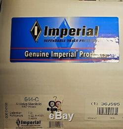 IMPERIAL 644-C Mechanical Manifold Gauge Set, 4-Valve