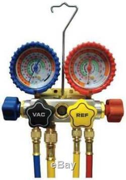 IMPERIAL 846-CS Mechanical Manifold Gauge Set, 4-Valve