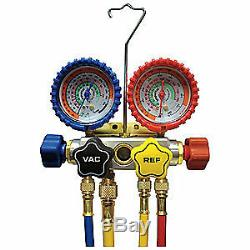 IMPERIAL Mechanical Manifold Gauge Set, 4-Valve, 846-CS