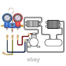 IRONMAX 4CFM 1/3HP Air Vacuum Pump HVAC Refrigeration AC Manifold Gauge Set R134
