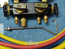 Imperial Eastman Mechanical Manifold Gauge Set 4 Valve 0 to 500 psi Guage Hi