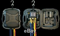 JB Industries DM4-R REVOLVER Digital Manifold with KOBRA 60 4-pack Hose Set