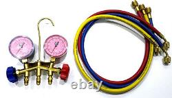 Jb Air Conditioning Refrigeration Manifold Gauge Set R410a With Hoses M2-21526