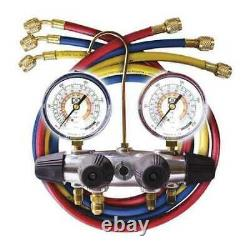 Jb Industries 25233L Mechanical Manifold Gauge Set, 4 Valves, Material Brass