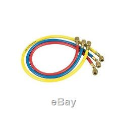 Jb Kobra Manifold HP Hose Set For Gauges, 72 / 6 Feet Red Blue Yellow