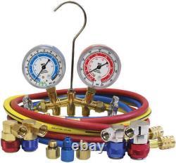 MASTERCOOL 66661-AYF Dual 134A AND 1234YF Brass Manifold Gauge Set