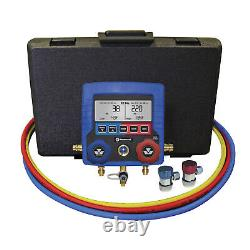 MASTERCOOL 99872-A Blue R134A Digital Manifold Gauge Set with 72 Hose/Manual