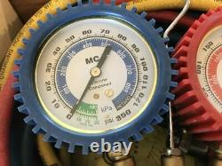 MATCO AC8412134 Dual R-12/R-134A Brass Manifold Gauge Set