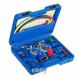 Manifold Gauge Set for Home A/C, HVAC, Diagnostic A/C Tool Kit for R410A, R22, R