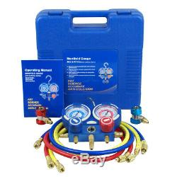 Manifold Gauge for R134a HVAC Air Condition A/C + 1/3HP 4CFM Vacuum Pump Set