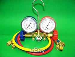 Manifold Gauges Set A/C Tester Service Diagnostic Air Condition R12 R22 R502