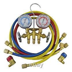 Mastercool 66660 Brass R134a Manifold Gauge Set with 36 and 60 hoses