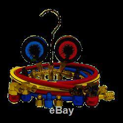 Mastercool 66661-AYF Dual 134A AND 1234YF Brass Manifold Gauge Set NEW