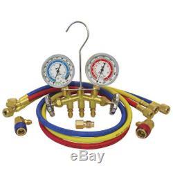 Mastercool 66773 Dual R-12/R-134A Brass Manifold Gauge Set