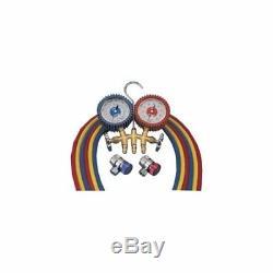 Mastercool 84772-G Brass R134a 2 Way Manifold Gauge Set With 72 Hoses (84772g)
