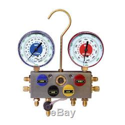 Mastercool 86103 R134a 4-Way Manifold Gauge Set witho hoses/gauge size