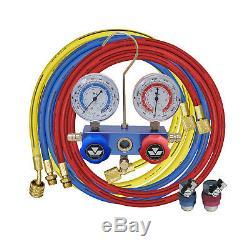Mastercool 87772 HVAC Charging Testing Manifold Gauge Set w Snap/Seal Couplers