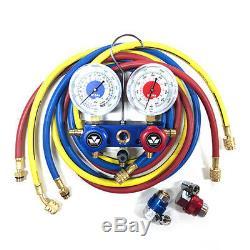 Mastercool 88172 R134a 2-Way Aluminum Manifold Gauge Set with3-72 hoses