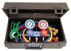 Mastercool 89660-PRO5 R134a Aluminum Manifold Gauge Set With Free 85530 3-in-1