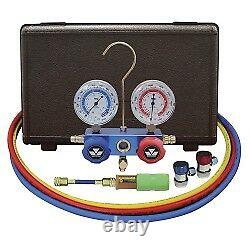 Mastercool 89661 UV 134A Aluminum manifold gauge set 60 hoses