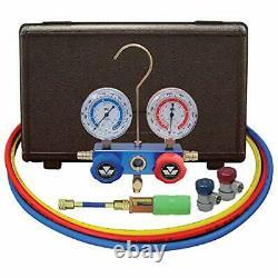 Mastercool 89661-UV Aluminum Manifold Gauge Set and Mini Dye Injector with Ma