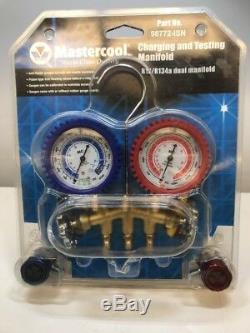 Mastercool 98772 Dual Brass Manifold Gauge Set