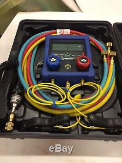 Mastercool 99661-A -2 HVAC Digital 2-Way Manifold Gauge Set w 60 Standard Hoses