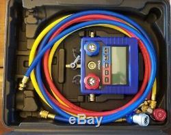 Mastercool Digital R134a A/C Manifold Gauge Set With Hoses 99872-A