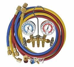 Mastercool MSC-66661-AYF R1234yf/r134a Brass Manifold Gauge Set (66661ayf)