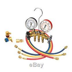 Mastercool R12/R123A Dual Brass Manifold Gauge Set 66773