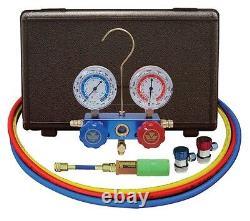 Mastercool R134A A/C Manifold Gauge Set 60 Hoses MANUAL Couplers 89661-UV