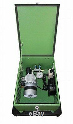 Matala Rocking Piston Compressor Cabinet Set with Pressure Gauge & Air Manifold