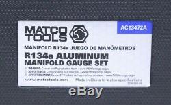 Matco Tools Professional R134a Manifold Gauge Set (AC13472A) Free Shipping