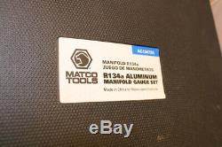Matco Tools Professional R134a Manifold Gauge Set (AC13472A) used ONCE