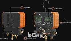 NAVAC DIGITAL MANIFOLD GAUGE SET With60 RYB HOSES NRM2D0101