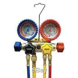 NEW Imperial Mechanical Manifold Gauge Set, 4-Valve 843-CS