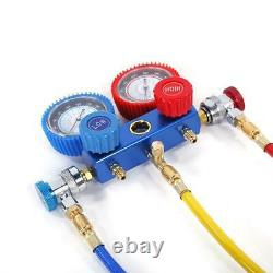 New AC Manifold Gauge Set R134a With Digital Electronic Refrigerant Charging Scale