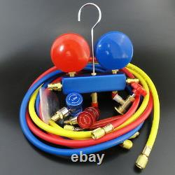 New AC Refrigeration Kit A/C Manifold Gauge Set Air R12 R22 R134a 410a R404z