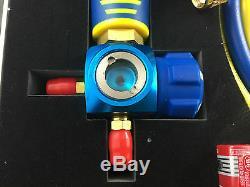 New Digital Single Manifold & Vacuum Temperature Gauge Set Wk-6881l Sight Glass
